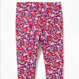 Old Navy Bottoms - NWT Burgundy Summer Floral Printed Leggings 2T